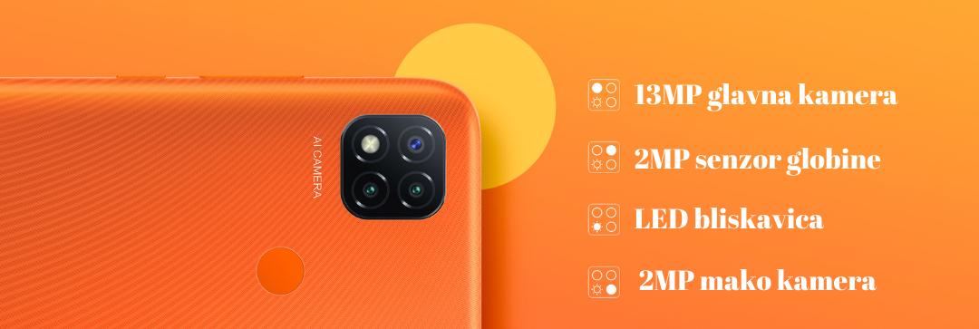 XIAOMI REDMI 9C NFC 3GB 64GB kamere