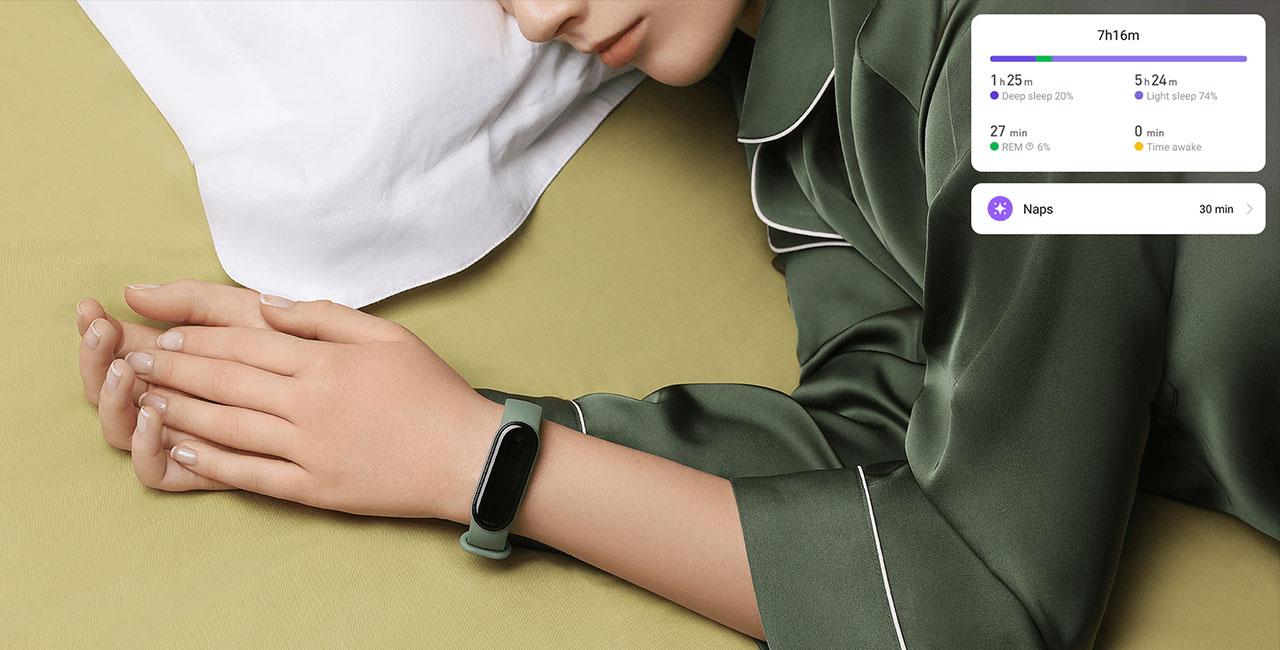 Xiaomi Mi Band 5 pametna zapestnica spanje